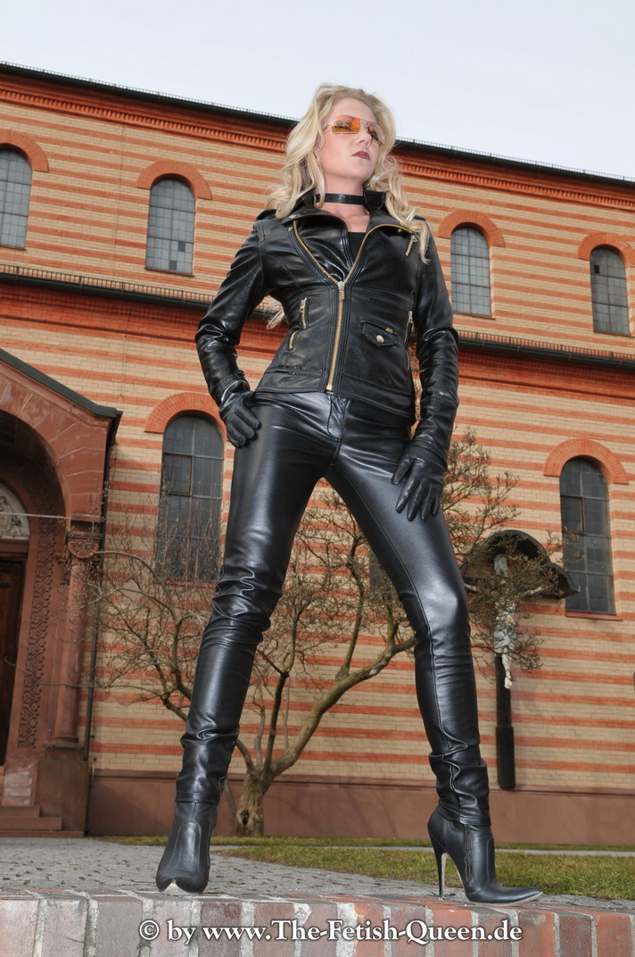 image Girls in leather boots young and old